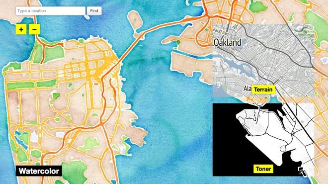 OpenStreetMaps von Stamen Design